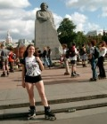 "A short break at the Karl Marx ""stone"" at Red Square"